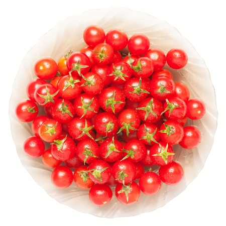 Background of a few ripe tomatoes.