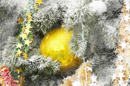 Decorated Christmas and New Year tree Stock Photo