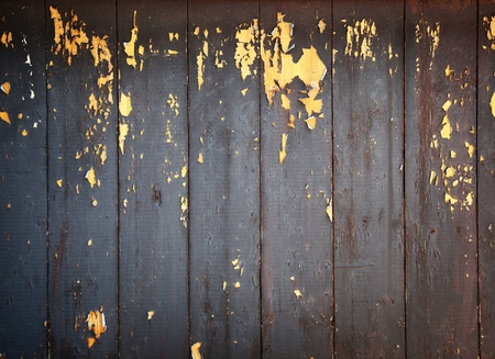 Background, an old, wooden structure