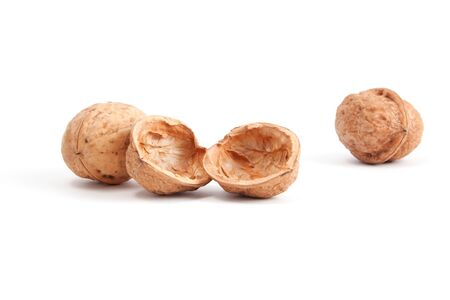 Two walnuts and one empty