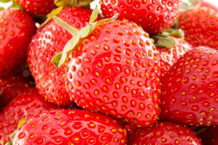 Background of ripe strawberries close-up