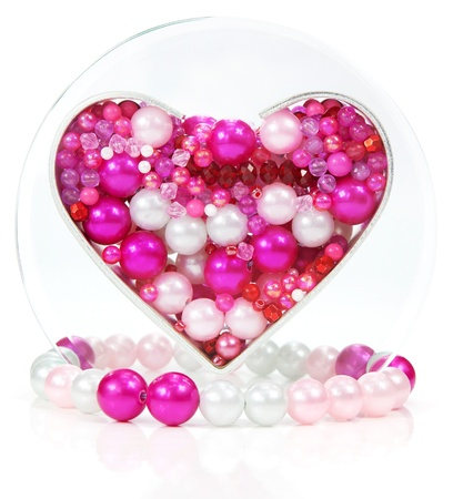 Heart shape of beads and jewelry
