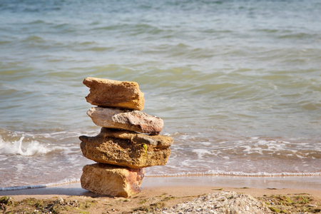 Rocks on the shore of the Black Sea