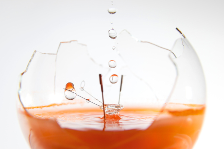 fluidity: The water in the broken electric lamp
