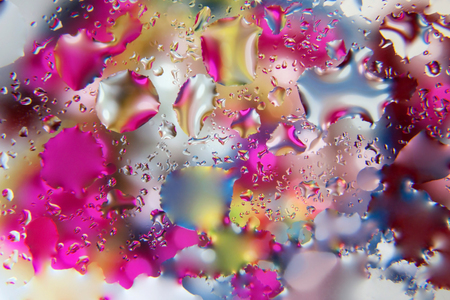 Background of colored drops of water
