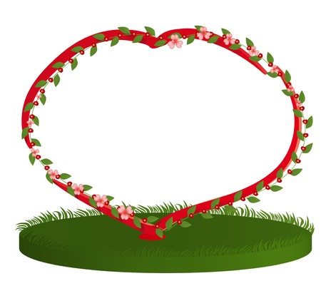 The stylized framework in the form of blossoming heart