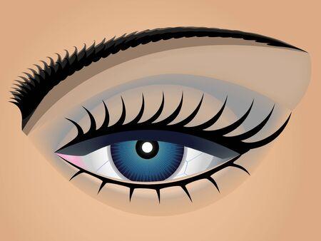 Dark blue female eye close up