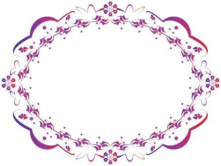 Ornamental framework with floral motive Vector