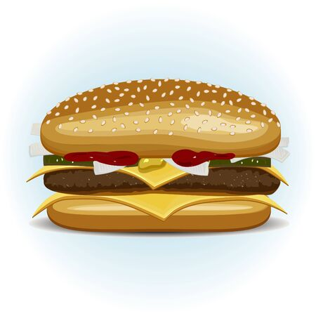 The representative of a fast food - a sandwich Illustration