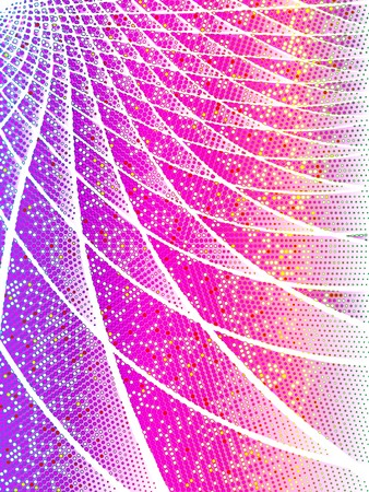 iridescent: Pink techno background with iridescent halftones