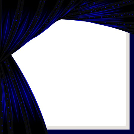 Background with the stylized curtain symbolising the star sky