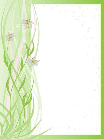 Light framework with a decor from white lilies Illustration