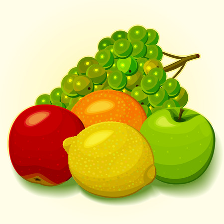 Juicy fruit on a light background
