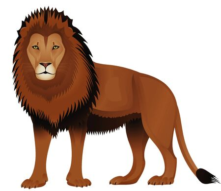 The stylized lion on a white background