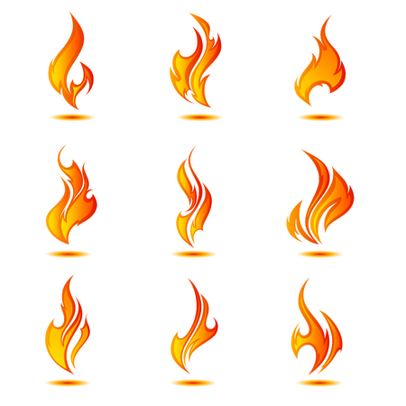 igniting: Fire flames. Abstract element for design. Illustration.