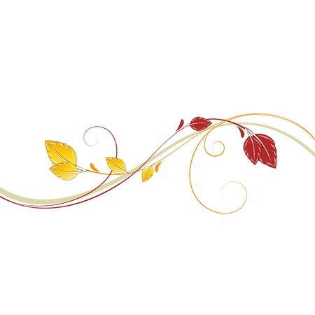 Abstract floral pattern with autumn leaves