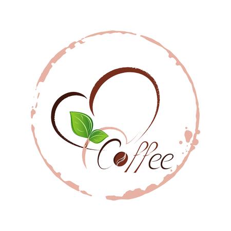 Stylish coffee logo for coffee shop, menu, restaurant. Elegant beautiful vector element for design. Illustration