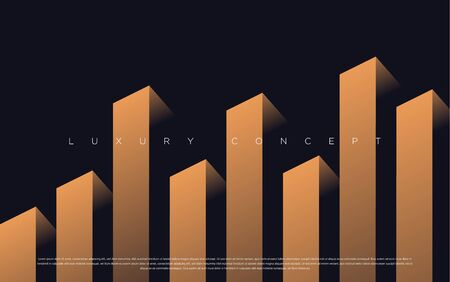 Vector abstract brown golden luxury backgrounds with geometric graphic elements for poster, flyer, digital board and concept design.