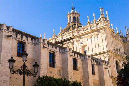 Fragment of the Cathedral - the main landmark of the city of Seville, Andalusia, Spain.