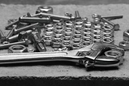 Building tools and fixing elements photo
