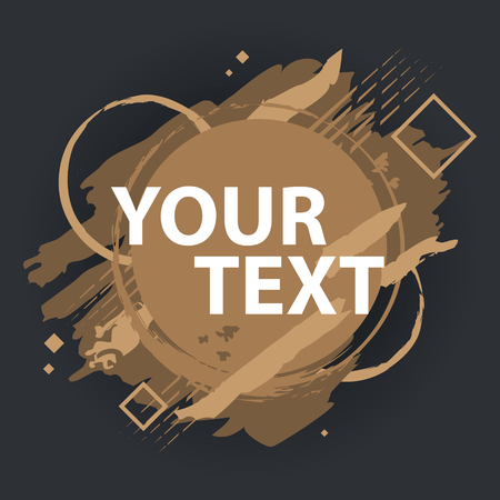 Grunge splash banner. Grunge background. Splash banner. Vector splatter labels with space for text. 向量圖像