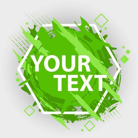 Banner de salpicaduras de Grunge. Vector salpicaduras etiquetas con espacio para texto. Etiqueta de Grunge. Foto de archivo - 84673398