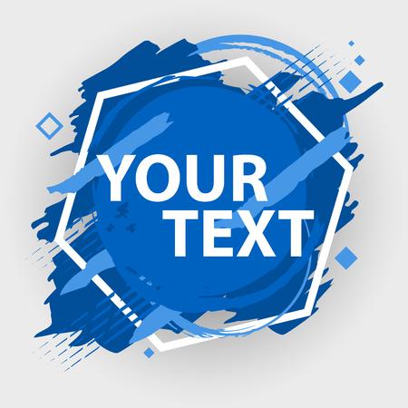 Banner de salpicaduras de Grunge. Vector salpicaduras etiquetas con espacio para texto. Etiqueta de Grunge. Foto de archivo - 84733715