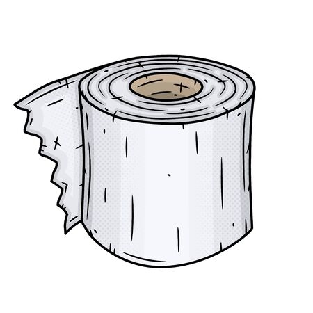 Toilet paper roll. Vector illustration isolated on white background.