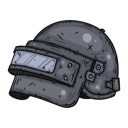helmet . Vector illustration isolated on white background. Vektorové ilustrace