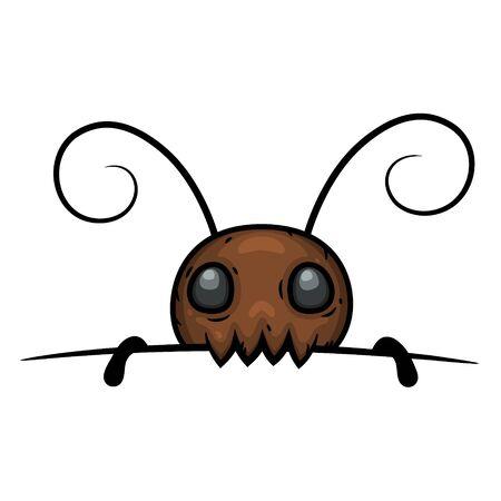 Termite oder Ameise isoliert auf weißem Hintergrund. Vektorgrafik