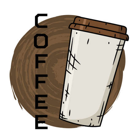 Coffee cup on creative background. Vector illustration. 向量圖像