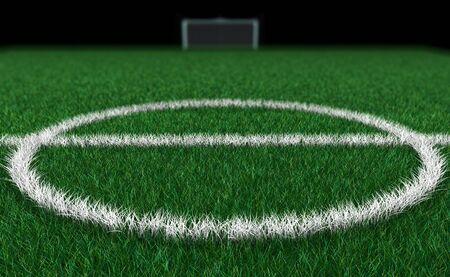 Soccer Field 3D photo