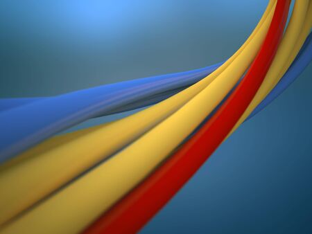 fascicle: Wires (high-res 3D render with focused and blurred areas)