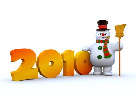 2010 Snowman 2 Stock Photo - 6054261