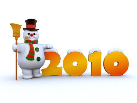 2010 Snowman 3 Stock Photo - 6054250