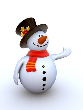 Funny snowman to use in New Year's designs Stock Photo - 6054330