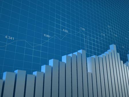 actividad econ�mica: Gr�fico y n�meros (fondo con bargraphs, cuadr�cula y n�meros para utilizar en los informes, presentaciones)  Foto de archivo