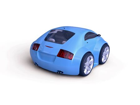 Baby Coupe Series Rear View  (Little Blue Tiny Isolated Concept Car) photo