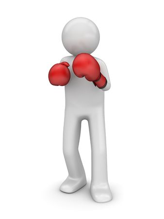 pugilist: Defending in boxing (3d isolated characters sports series)