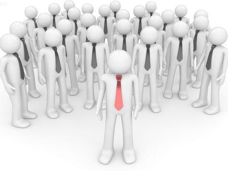 clash: Reuni�n de l�der de equipo (personas en la Oficina, cosas, administrador de serie; 3d de personajes aislados)