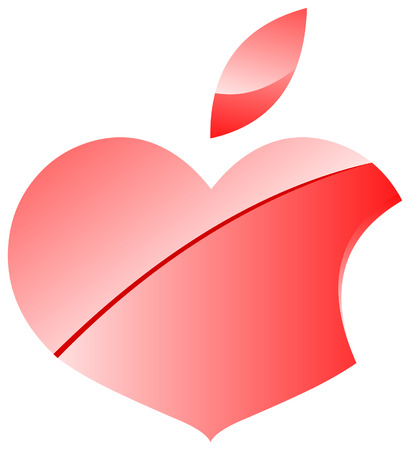 Hearpple Valentine Logo OR Logo For Funclub of Some Great Company Vector