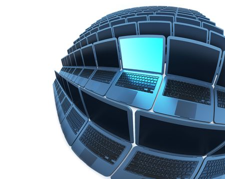 vpn: Spherical laptops 2 (laptops series) Stock Photo