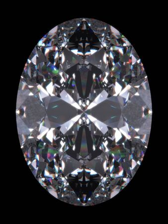 diamond shape: Diamond oval cut (Diamond series; isolated 3d jewellery series) Stock Photo