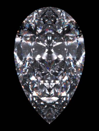 Diamond pear cut (Diamond series; isolated 3d jewellery series) photo
