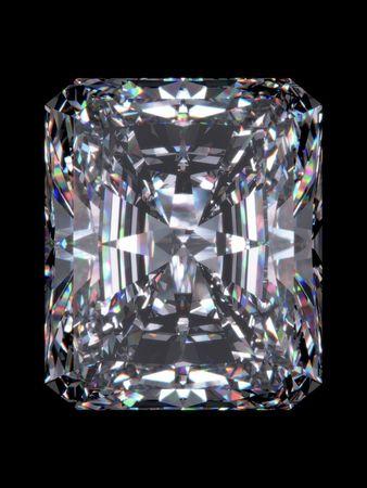 Diamond radiant cut (Diamond series; isolated 3d jewellery series)