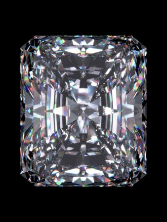 diamond stones: Diamond radiant cut (Diamond series; isolated 3d jewellery series)