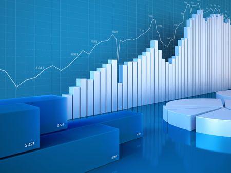 Statistics charts (Graphs, charts, statistics and reporting series) Stock Photo