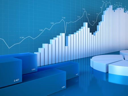 reporting: Statistics charts (Graphs, charts, statistics and reporting series) Stock Photo