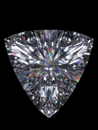 Diamond trillion cut (Diamond series; isolated 3d jewellery isolated series) photo