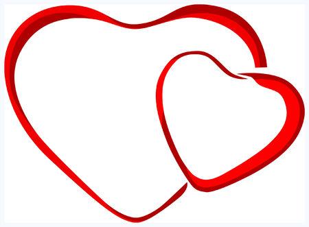 Striped Herz Copyspace (Liebe, Valentin Tag, Hochzeit-Serie) Vektorgrafik